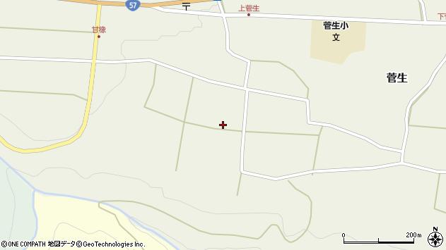 大分県竹田市菅生404周辺の地図