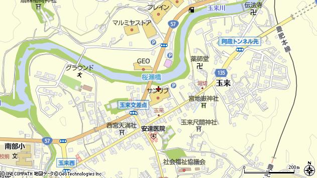 大分県竹田市玉来玉来東中周辺の地図