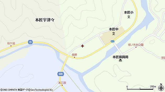 大分県佐伯市本匠大字笠掛1604周辺の地図