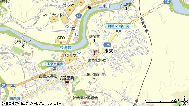 大分県竹田市玉来694周辺の地図