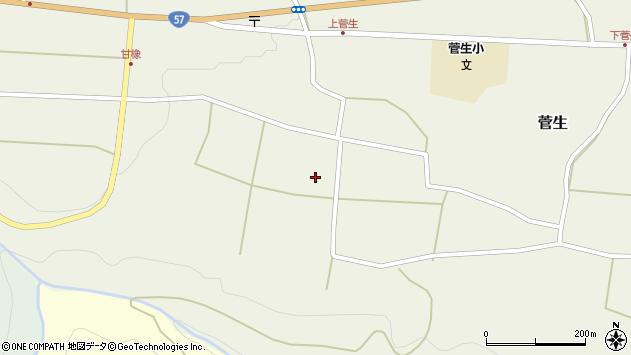 大分県竹田市菅生406周辺の地図
