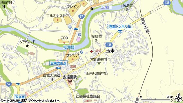 大分県竹田市玉来701周辺の地図