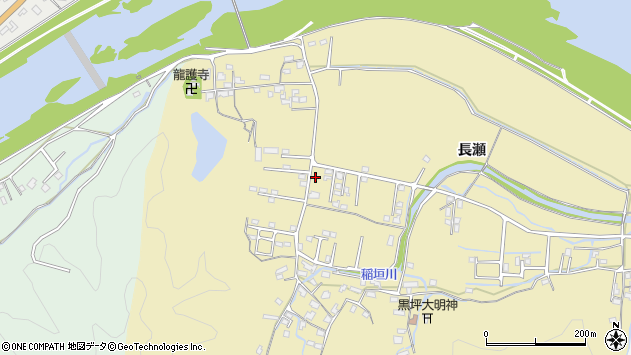 大分県佐伯市稲垣1441周辺の地図