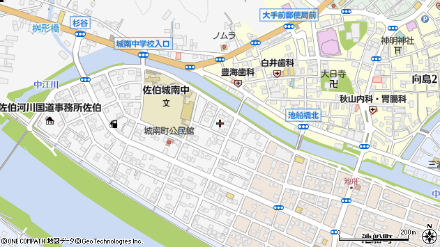 大分県佐伯市城南町14周辺の地図