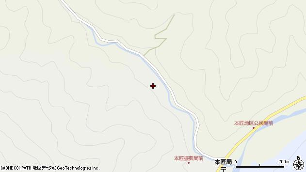大分県佐伯市本匠大字宇津々212周辺の地図