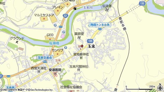 大分県竹田市玉来690周辺の地図
