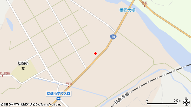 大分県佐伯市弥生大字門田1275周辺の地図