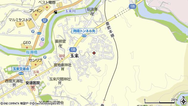 大分県竹田市玉来543周辺の地図