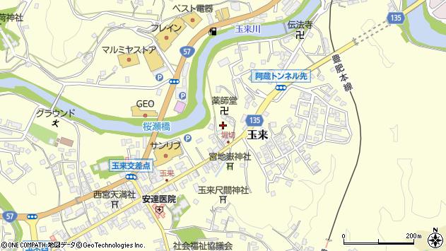 大分県竹田市玉来玉来東周辺の地図