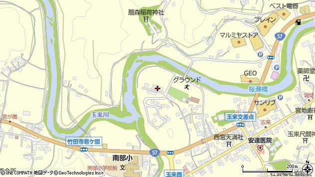 大分県竹田市玉来819周辺の地図