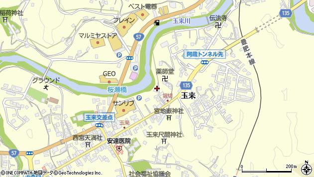 大分県竹田市玉来703周辺の地図