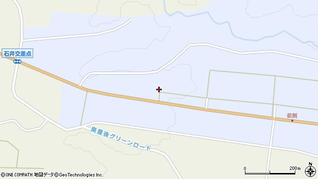 大分県竹田市戸上西戸上周辺の地図
