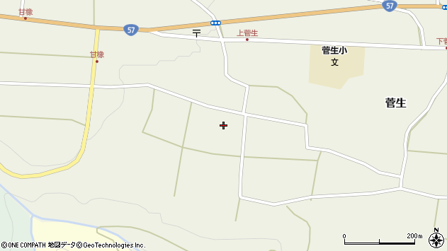 大分県竹田市菅生408周辺の地図