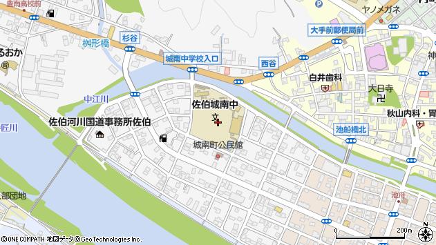 大分県佐伯市城南町17周辺の地図