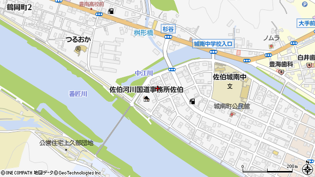 大分県佐伯市城南町30周辺の地図