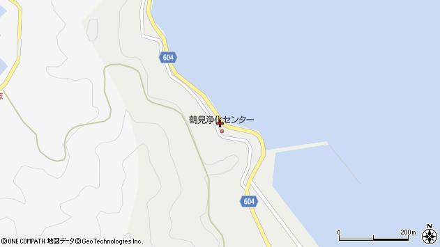 大分県佐伯市鶴見大字地松浦14周辺の地図