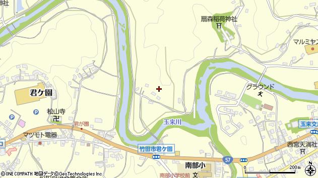 大分県竹田市拝田原深瀬周辺の地図