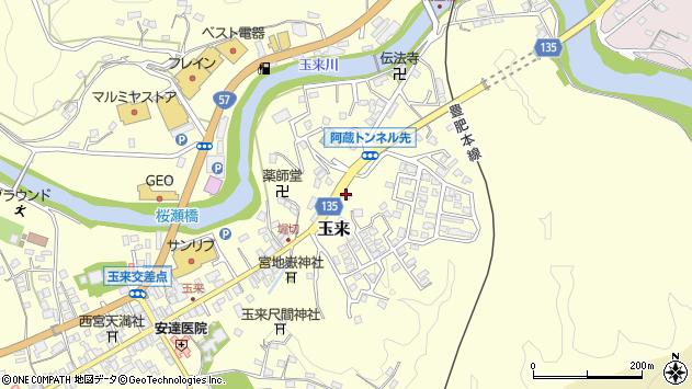 大分県竹田市玉来596周辺の地図