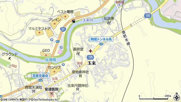 大分県竹田市玉来667周辺の地図