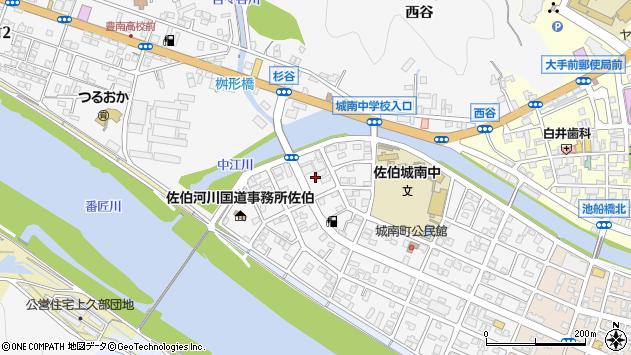 大分県佐伯市城南町28周辺の地図
