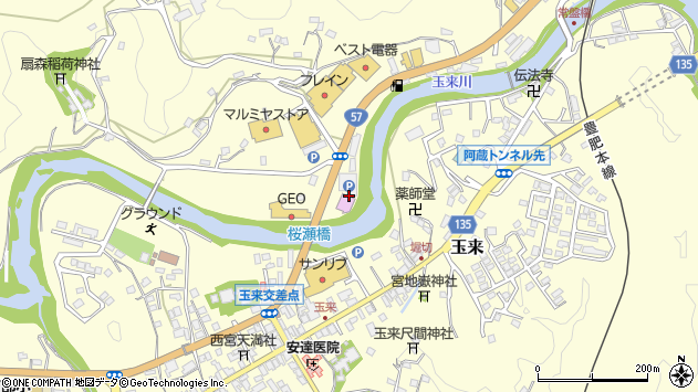 大分県竹田市拝田原761周辺の地図