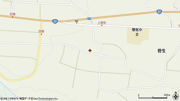 大分県竹田市菅生419周辺の地図