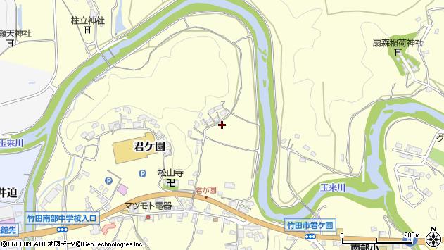 大分県竹田市君ケ園328周辺の地図