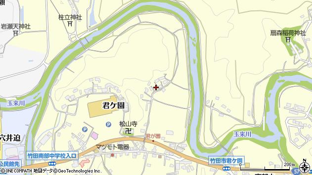 大分県竹田市君ケ園298周辺の地図