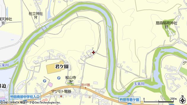 大分県竹田市君ケ園285周辺の地図