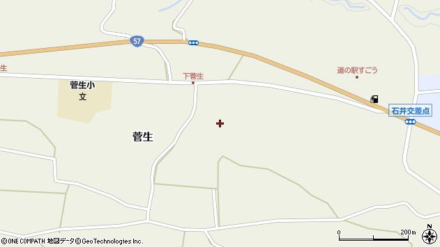 大分県竹田市菅生下菅生周辺の地図