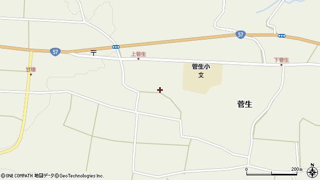 大分県竹田市菅生472周辺の地図