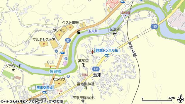 大分県竹田市玉来659周辺の地図