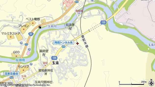 大分県竹田市玉来628周辺の地図