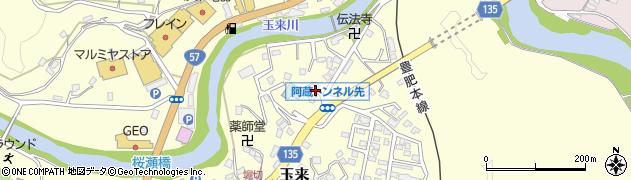 大分県竹田市玉来638周辺の地図