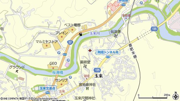 大分県竹田市玉来671周辺の地図