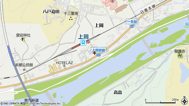 大分県佐伯市上岡1322周辺の地図