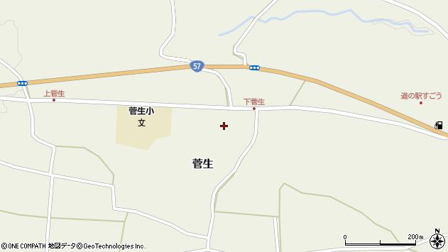 大分県竹田市菅生513周辺の地図