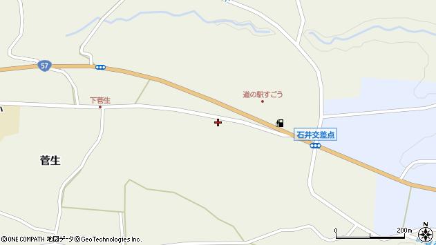 大分県竹田市菅生976周辺の地図