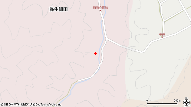 大分県佐伯市弥生大字細田1232周辺の地図