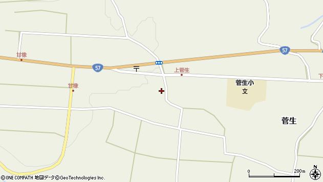 大分県竹田市菅生445周辺の地図