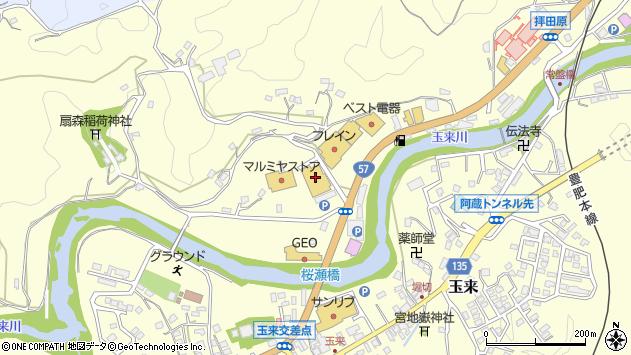 大分県竹田市拝田原729周辺の地図