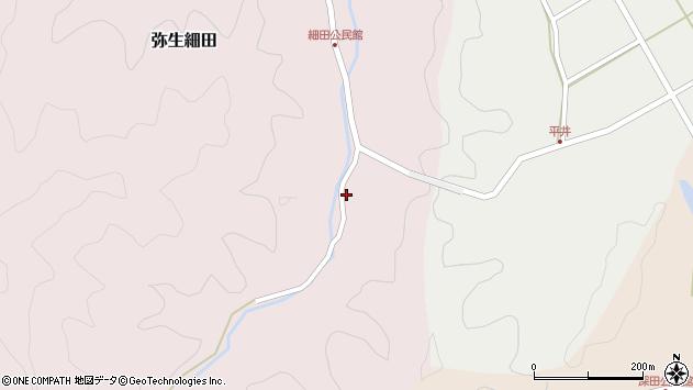 大分県佐伯市弥生大字細田1274周辺の地図