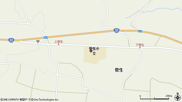 大分県竹田市菅生490周辺の地図
