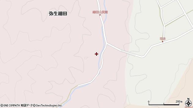 大分県佐伯市弥生大字細田1229周辺の地図