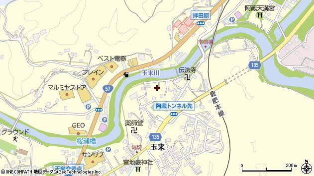 大分県竹田市玉来652周辺の地図
