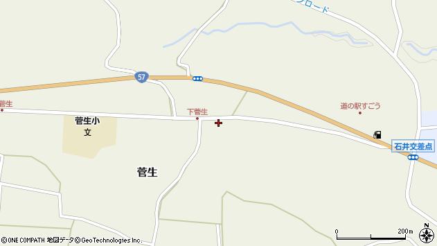 大分県竹田市菅生804周辺の地図