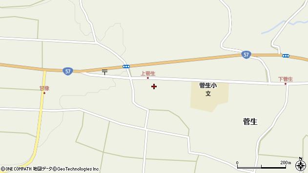 大分県竹田市菅生456周辺の地図