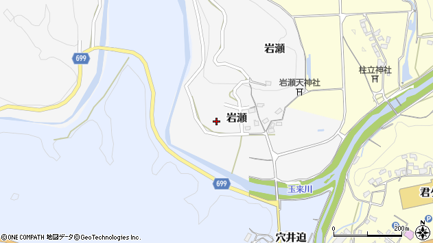 大分県竹田市岩瀬岩瀬周辺の地図