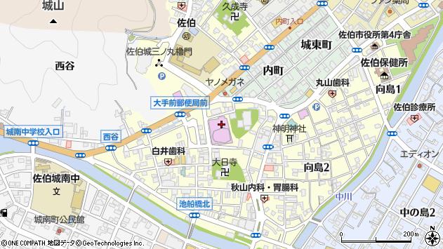 大分県佐伯市大手町中央区周辺の地図