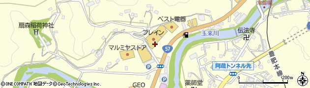 大分県竹田市拝田原745周辺の地図